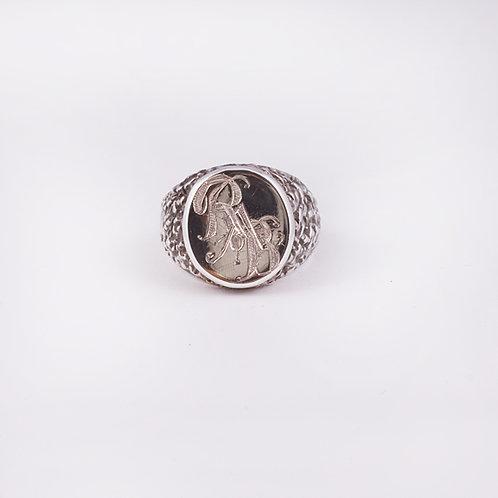 Sterling CD Signet ring