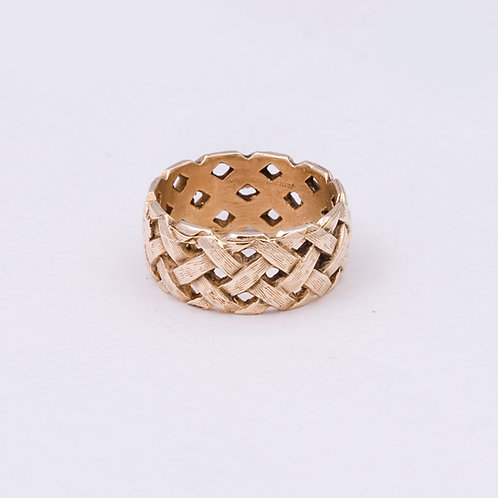 14k Carlos Diaz Basket Ring GD-0048