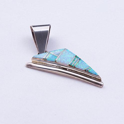 Sterling Lab Opal Pendant