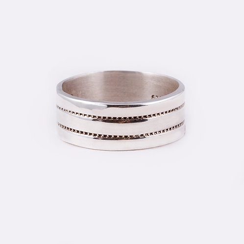 Sterling Chased Ring RG-0329
