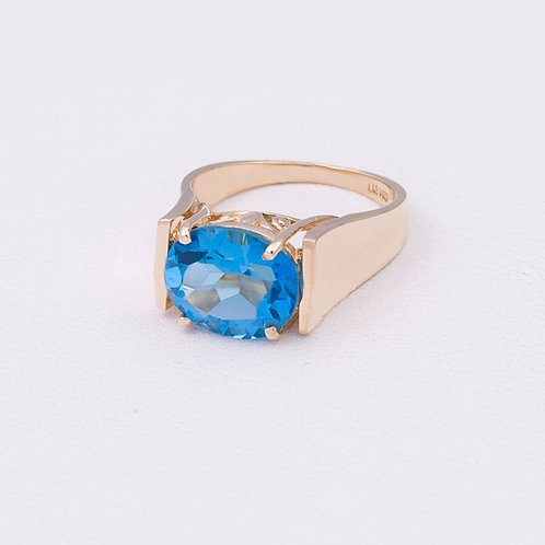 14k London Blue Topaz Ring GD-0139