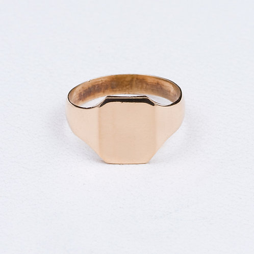 18KT Yellow Gold Signet Ring GD-0367