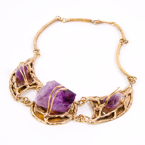 Brass/Amethyst Necklace