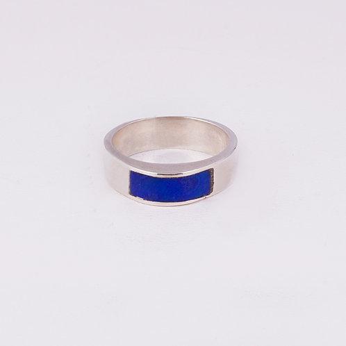 Sterling Silver Carlos Diaz Lapis Ring RG-0169