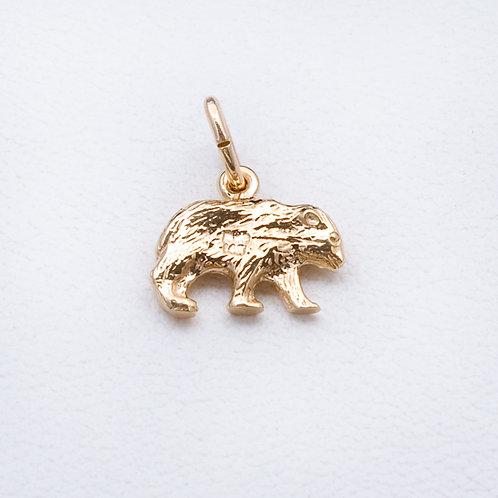 14KT Yellow Gold Bear Charm GD-0344
