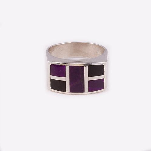 Sterling Silver Carlos Diaz Sugilite Ring RG-0178
