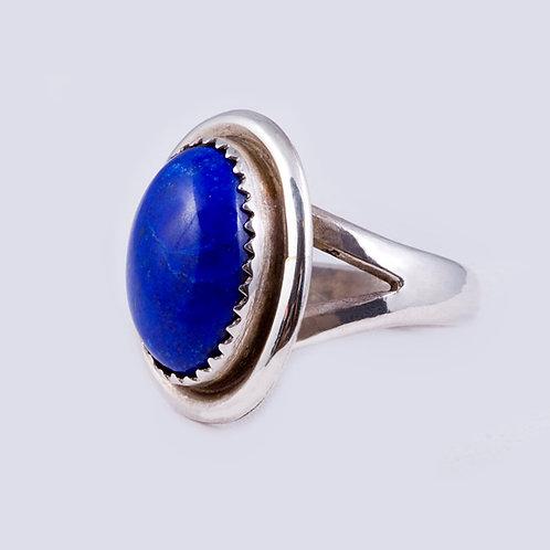 Sterling Navajo Lapis Ring RG-0370
