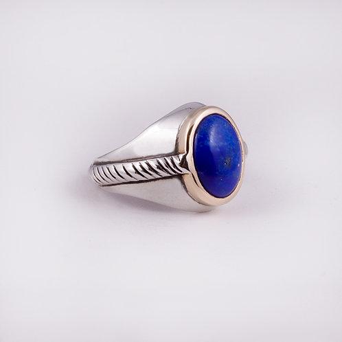 Sterling/14k  Carlos Diaz Lapis Ring RG-0125