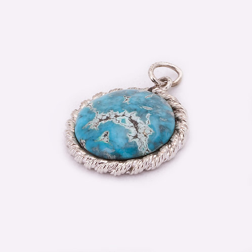 Sterling Turquoise pendant CC-0021