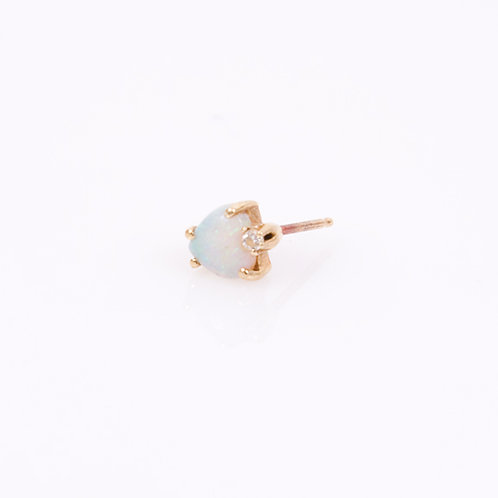 Opal Stud Earring in 14k gold