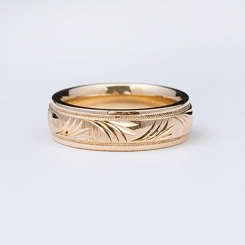 14 KT Yellow gold Band GD-0401