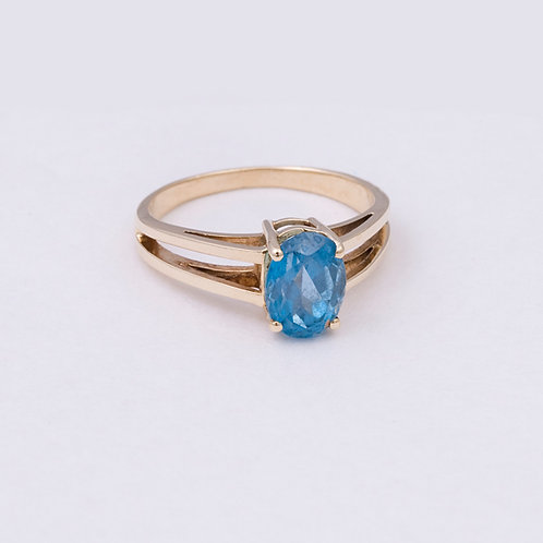 14k Blue Topaz Ring GD-0127