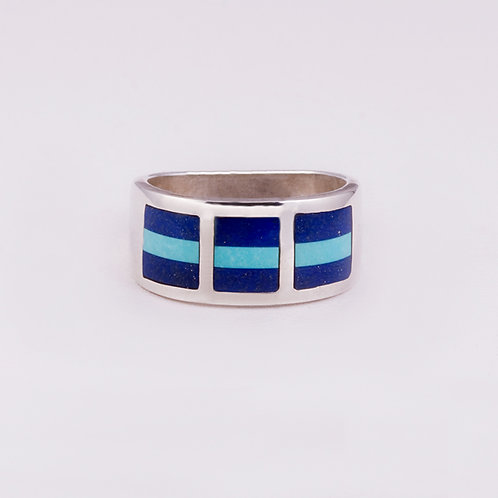 Sterling Silver Lapis/Turquoise Ring RG-0164