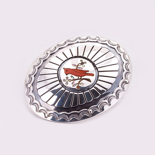 Consignment Sterling Cardinal Buckle CC-0029