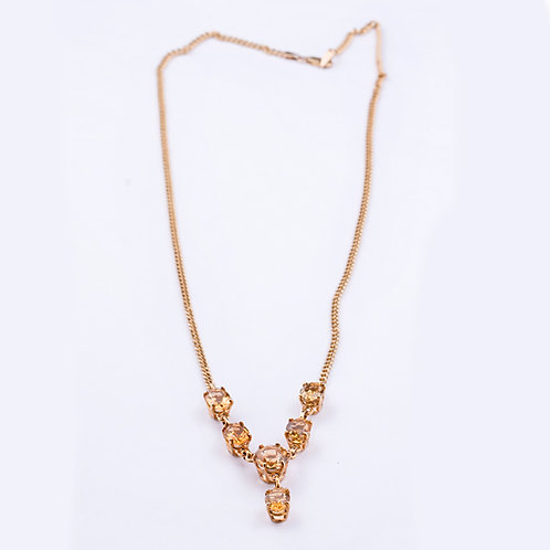 CD 18K Citrine Necklace