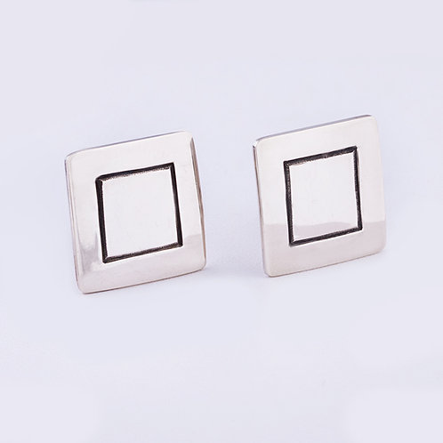 Sterling Silver Carlos Diaz Cuff Links