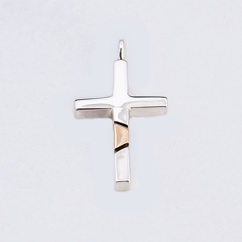 Ron Henry Sterling 14k Cross PE-0292