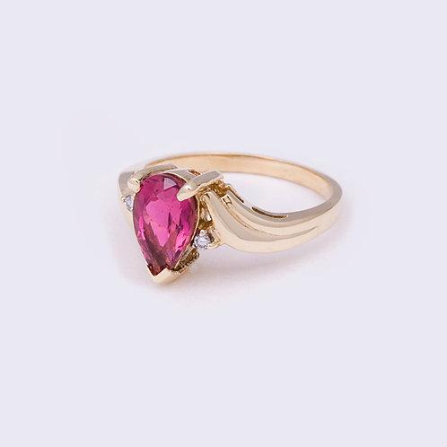 14k Pink Tourmaline Ring GD-0135