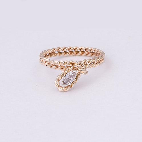 14k Carlos Diaz Diamond Ring GD-0111