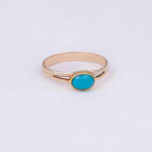 14k Sleeping Beauty Turquoise Ring GD-0104