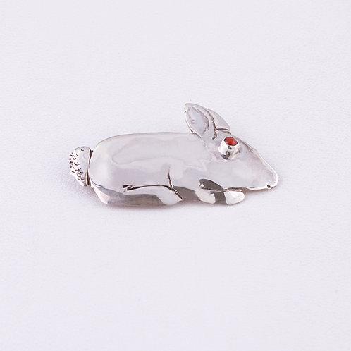 Sterling Silver Carlos Diaz Rabbit Pin