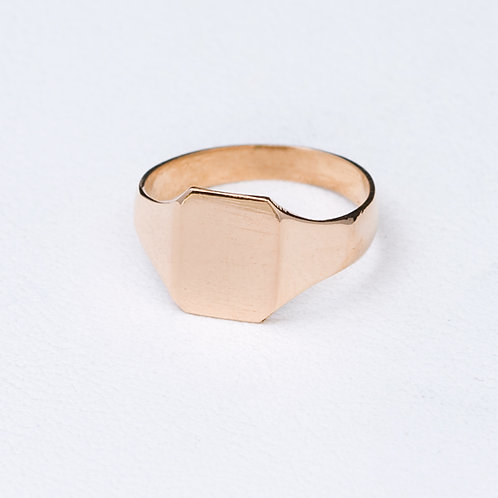 18kt yellow gold Signet Ring GD-0395