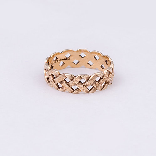 14k Carlos Diaz Basket Ring GD-0047