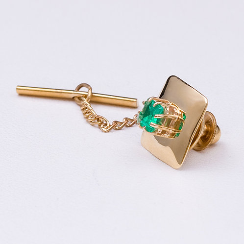 18k CD Emerald tie tack GD-0443