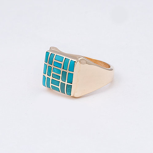 14k CD Sleeping Beauty Turquoise Ring GD-0070