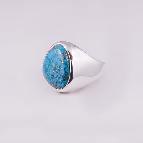 Sterling Carlos Diaz Turquoise Ring RG-0139