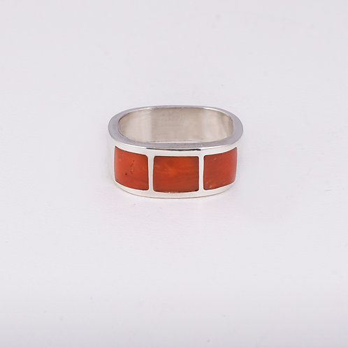 Sterling Silver CD Coral Ring RG-0188