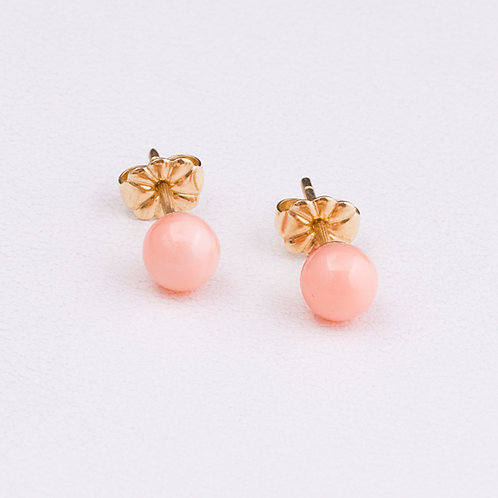 14KT Yellow Gold Coral Earrings GD-0223