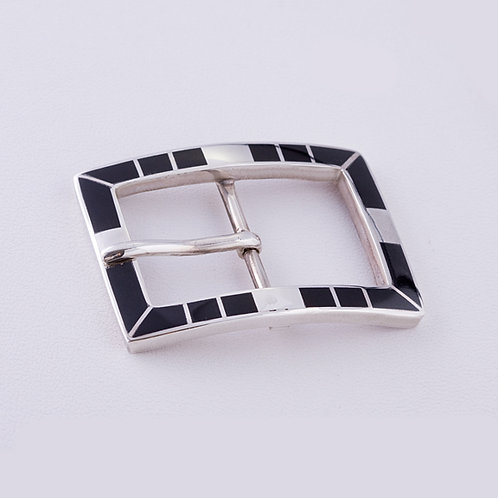 Sterling Silver Carlos Diaz Inlay Buckle