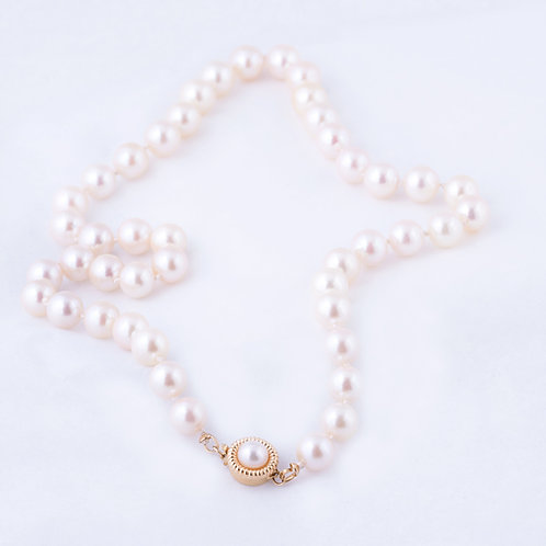 Pearl Necklace 14k Clasp NK-0010