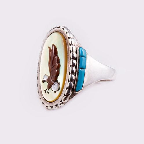 Sterling Silver Zuni Ring RG-0315