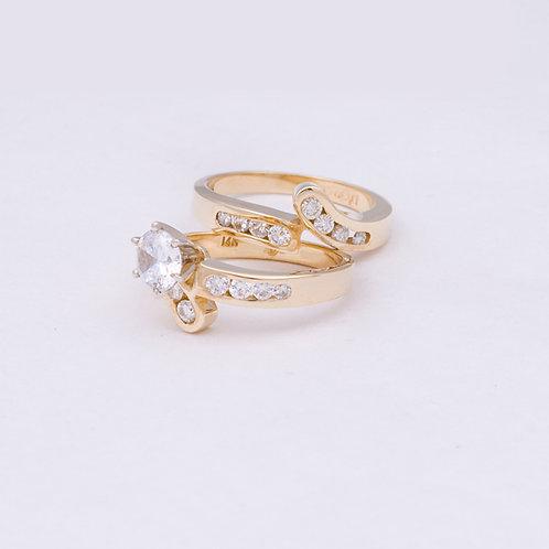 14k ring set with Diamonds