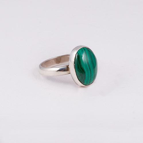 Sterling Silver Carlos Diaz Malachite Ring RG-0175