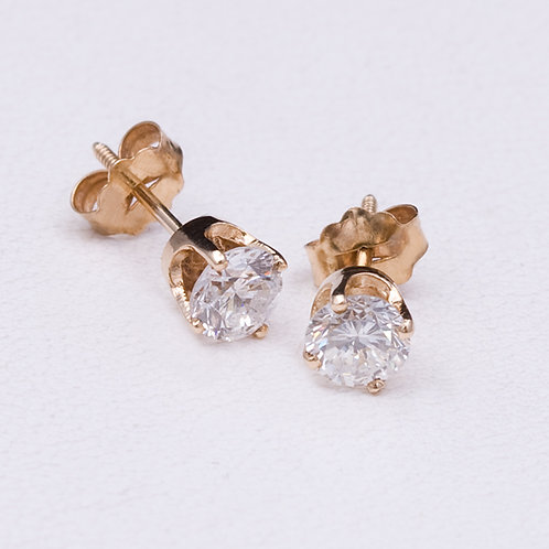 14KT Yellow Gold Diamond EarringsGD-0236
