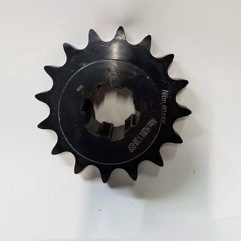 """(SPR-3230A) 16 Tooth Weldable Sprocket with 6 Spline, 1-3/8"""" Bore"""