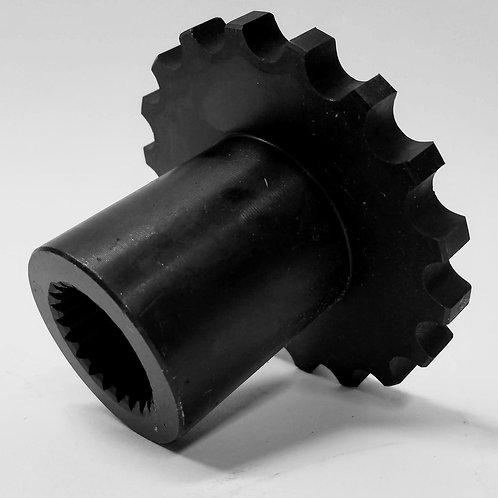 """(SPR-3224) 18 Tooth Sprocket with 21 Spline, 1-3/8"""" Bore"""