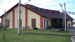 Budynek zajezdni lokomotyw na stacji Przemyśl-Bakonczyce