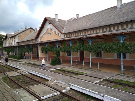 Budynek dworca kolejowego w Chyrowie