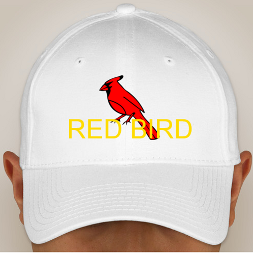 White Red Bird Hat