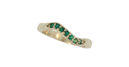 SS Emerald Stackable Ring