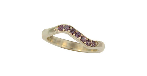 SS Alexandrite Stackable Ring