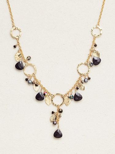 Galaxy Black Fairy Garden Necklace