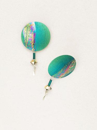 Green Hidden Cove Post Earrings