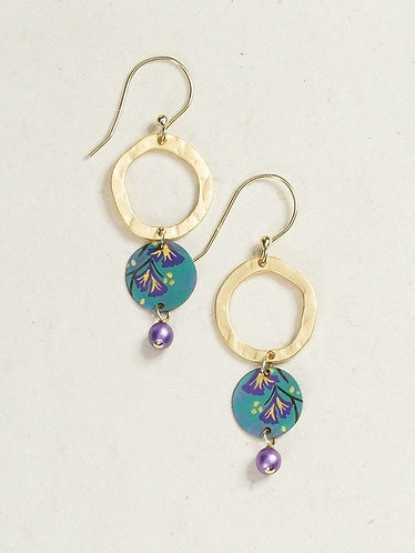 Gold/Teal Storyteller Earrings