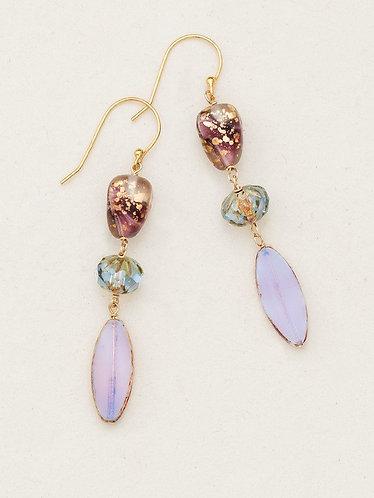 Lavender Morning Glory Drop Earrings