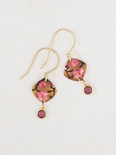 Peachy/Pink Aurora Earrings